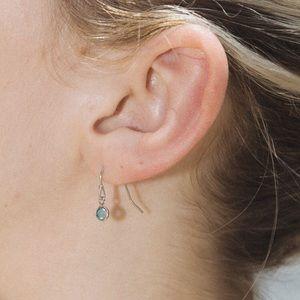 Brandy Melville  blue rhinestone  earrings